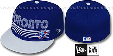 Blue Jays PUNCHOUT Royal-White Fitted Hat by New Era