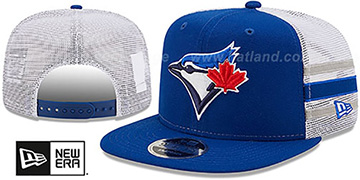 Blue Jays SIDE-STRIPE TRUCKER SNAPBACK Royal Hat by New Era