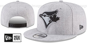 Blue Jays SILKED-XL SNAPBACK Heather Light Grey Hat by New Era