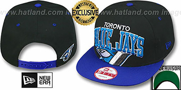 Blue Jays SUPER-LOGO ARCH SNAPBACK Black-Royal Hat by New Era