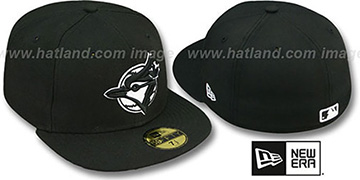Blue Jays 'TEAM-BASIC ALTERNATE' Black-White Fitted Hat by New Era