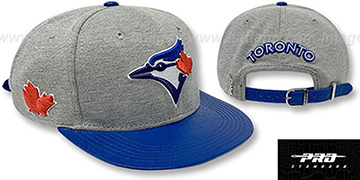 Blue Jays TEAM-BASIC STRAPBACK Grey Royal Hat by Pro Standard