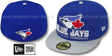 Blue Jays TECH MARK Royal-Grey Fitted Hat by New Era