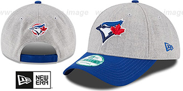 Blue Jays 'THE-LEAGUE HEATHER STRAPBACK' Grey-Royal Hat by New Era