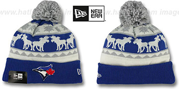 Blue Jays 'THE-MOOSER' Knit Beanie Hat by New Era