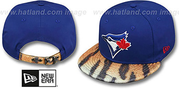 Blue Jays TIGER ANIMALISTIC-FUR VIZA STRAPBACK Hat by New Era