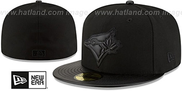 Blue Jays 'TONAL TRICK' Black Fitted Hat by New Era