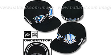 Blue Jays TWO-BIT Black-White Fitted Hat by New Era