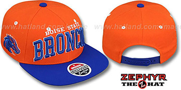 Boise State '2T SUPER-ARCH SNAPBACK' Orange-Royal Hat by Zephyr
