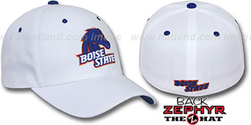 Boise State 'DH' Fitted Hat by Zephyr - white