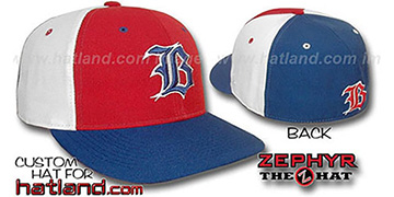 Boston 'PINWHEEL' Red-White-Royal Fitted Hat
