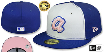 Braves 1974 COOPERSTOWN PINK LOGO BOTTOM Fitted Hat by New Era