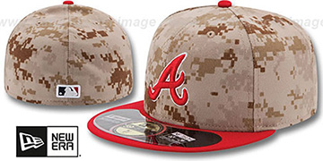Braves '2014 STARS N STRIPES' Fitted Hat by New Era
