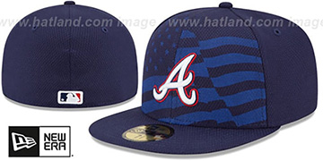 Braves 2015 JULY 4TH STARS N STRIPES Hat by New Era