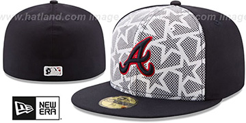 Braves '2016 JULY 4TH STARS N STRIPES' Fitted Hat by New Era