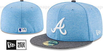Braves '2017 FATHERS DAY' Fitted Hat by New Era