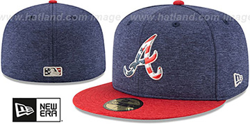 Braves '2017 JULY 4TH STARS N STRIPES' Fitted Hat by New Era