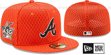 Braves '2017 MLB HOME RUN DERBY' Orange Fitted Hat by New Era
