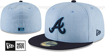Braves '2018 FATHERS DAY' Sky-Navy Fitted Hat by New Era