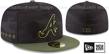 Braves 2018 MEMORIAL DAY 'STARS N STRIPES' Hat by New Era