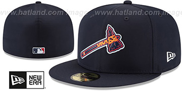 Braves 2018 PROLIGHT-BP Navy Fitted Hat by New Era