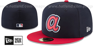 Braves 2018 PROLIGHT-BP ROAD Navy-Red Fitted Hat by New Era