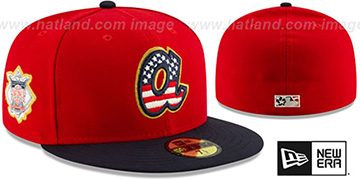 Braves 2019 JULY 4TH STARS N STRIPES Fitted Hat by New Era