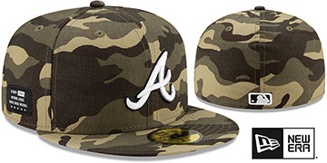 Braves 2021 ARMED FORCES STARS N STRIPES Hat by New Era
