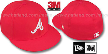 Braves '3M REFLECTIVE' Red Fitted Hat by New Era