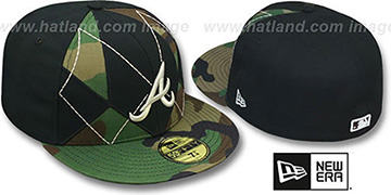 Braves ARMY CAMO BRADY Fitted Hat by New Era