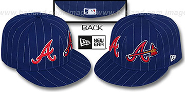 Braves BIG-ONE DOUBLE WHAMMY Navy-White Fitted Hat