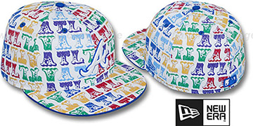 Braves 'BIG-TOP' White-Multi Fitted Hat by New Era