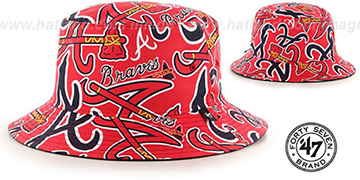 Braves BRAVADO BUCKET Hat by Twins 47 Brand