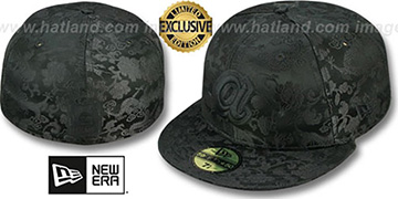 Braves 'COOP BLACKOUT SILK-DRAGONS' Fitted Hat by New Era