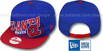 Braves Coop STILL ANGLIN SNAPBACK Royal-Red Hat by New Era
