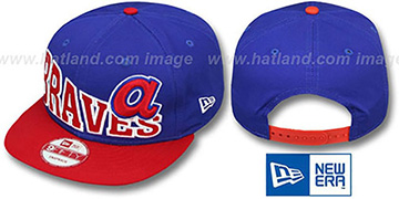 Braves COOP STOKED SNAPBACK Royal-Red Hat by New Era