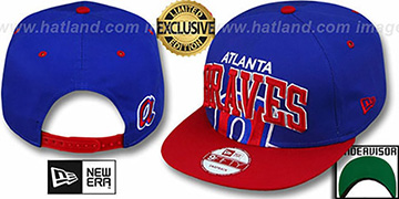 Braves COOP SUPER-LOGO ARCH SNAPBACK Royal-Red Hat by New Era