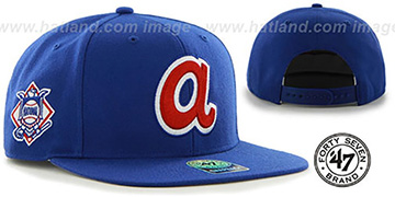 Braves COOP 'SURE-SHOT SNAPBACK' Royal Hat by Twins 47 Brand