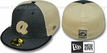 Braves COOP WEAVE-N-CORD Fitted Hat by New Era - black-tan