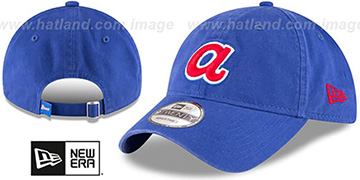 Braves COOP CORE-CLASSIC STRAPBACK Royal Hat by New Era