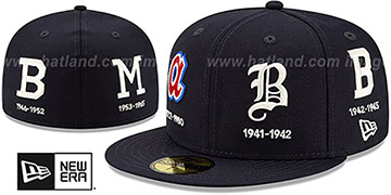 Braves COOPERSTOWN EVOLUTION-2 Navy Fitted Hat by New Era