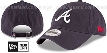 Braves 'CORE-CLASSIC STRAPBACK' Navy Hat by New Era