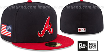 Braves COUNTRY COLORS Navy-Red Fitted Hat by New Era
