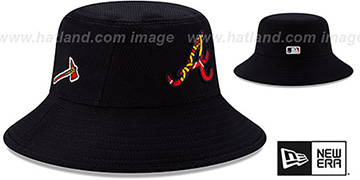 Braves DASHMARK BP BUCKET Hat by New Era