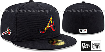 Braves DASHMARK BP Navy Fitted Hat by New Era