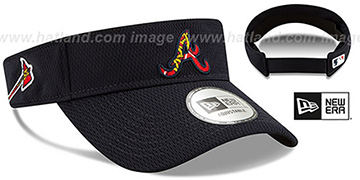 Braves 'DASHMARK BP VISOR' Navy by New Era