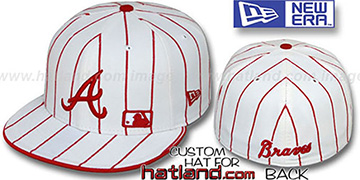 Braves FABULOUS White-Red Fitted Hat by New Era