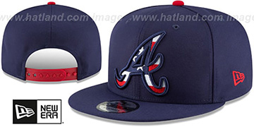 Braves 'FLAG FILL INSIDER SNAPBACK' Navy Hat by New Era