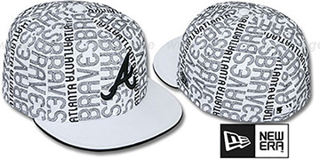 Braves 'GOOD TIMES ALL-OVER' White-Black Fitted Hat by New Era