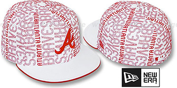 Braves 'GOOD TIMES ALL-OVER' White-Red Fitted Hat by New Era